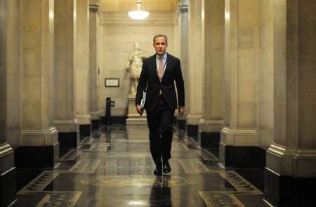 Governeor Mark Carney at the Bank of England shortly after his appointment in July 2013.